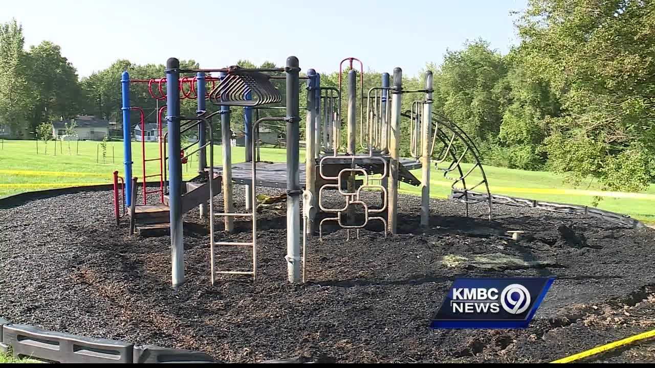 Police are investigating an apparent arson at a Kansas City, Kansas, school playground this weekend.
