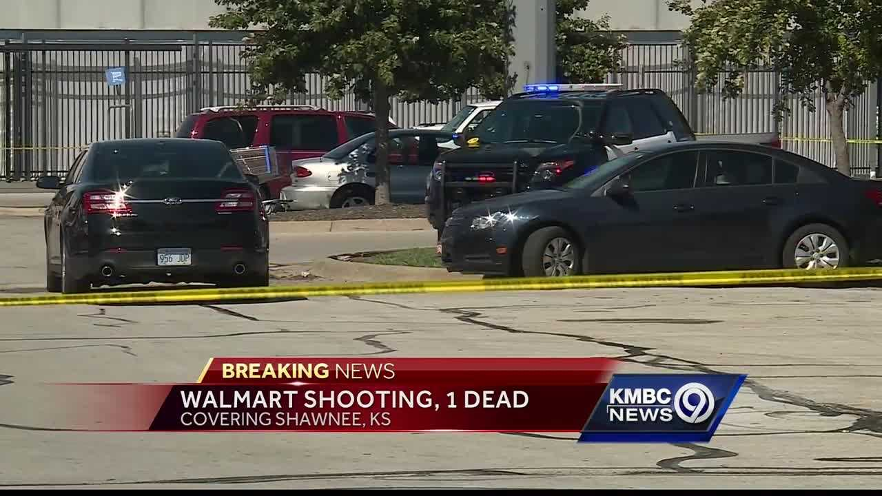One person was killed and two people were injured in an assault and shooting outside a Shawnee Walmart store Sunday afternoon.