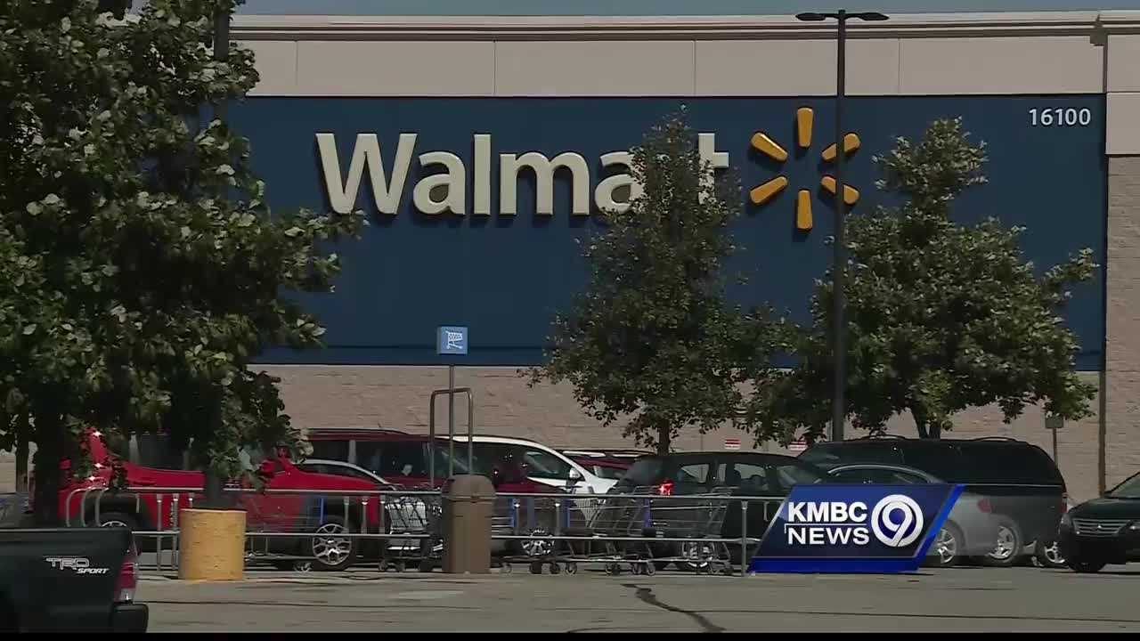 Shawnee police said they're still looking for a man who ran from the scene of an assault and fatal shooting at a Walmart parking lot Sunday afternoon.