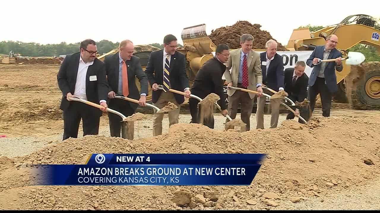 Amazon broke ground Tuesday on its new fulfillment center in Kansas City, Kansas.