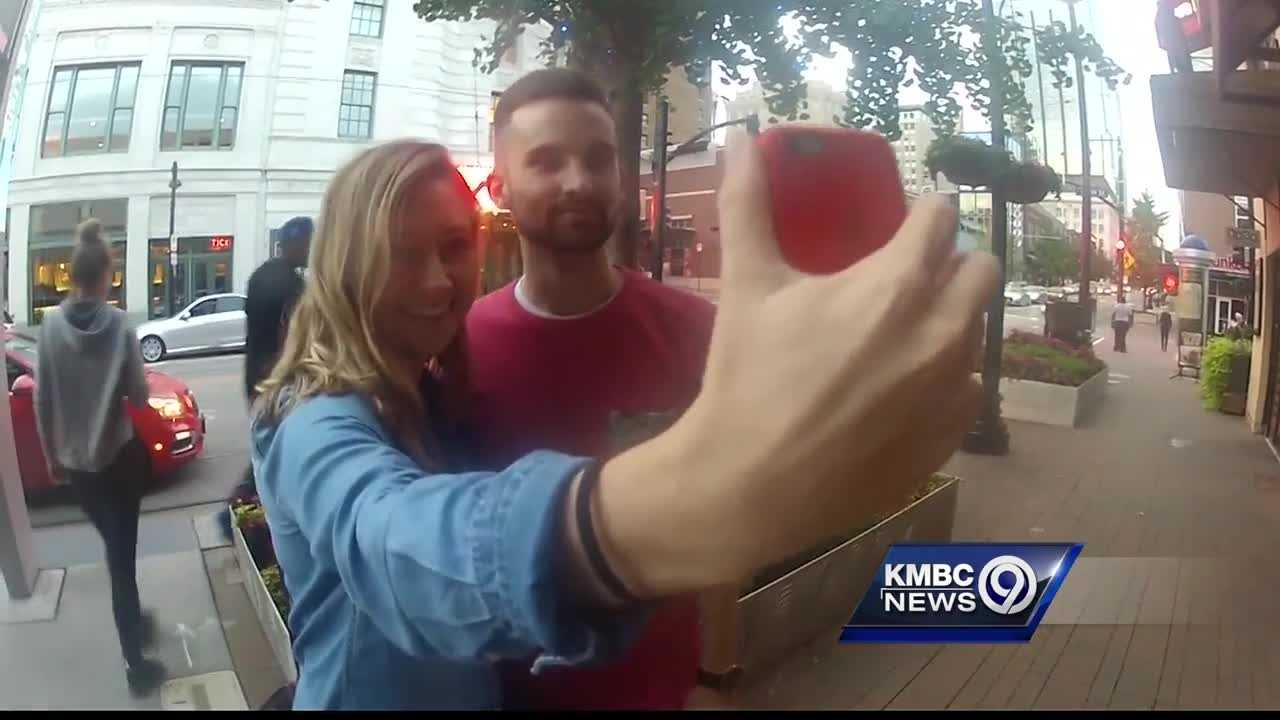 People who like taking selfies had a picture-perfect night in downtown Kansas City.