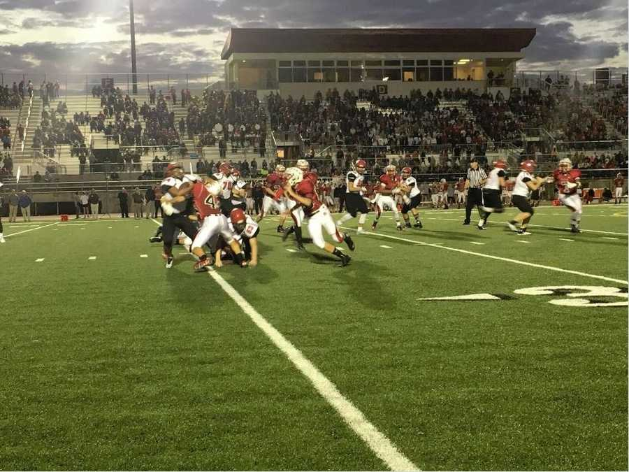 "Turnovers plagued the Lions, including a ""pick 6"" in the second half.  Shawnee Mission North won by a score of 58-28."