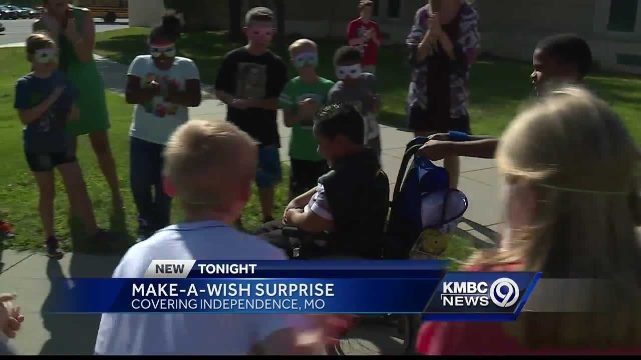 A Blackburn Elementary School third-grader got a special surprise Monday.