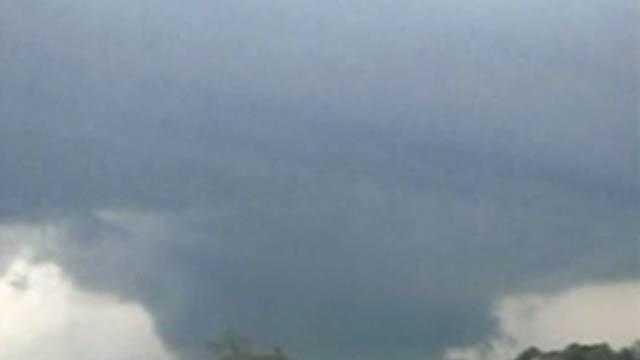 Tornado: Funnel Cloud Over Homes