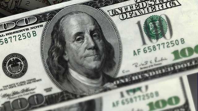 Money  - large bills close up