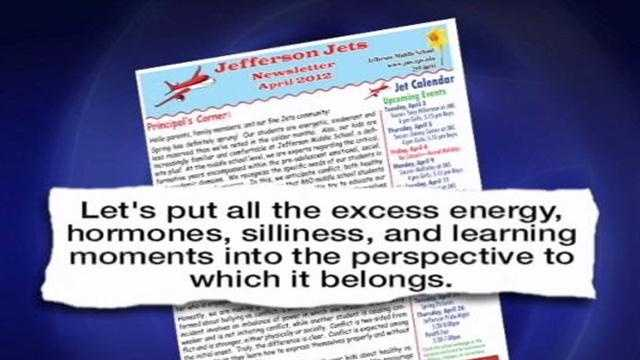 Parents and bullying advocates are outraged after a middle school principal released a statement in a newsletter that defined bullying.
