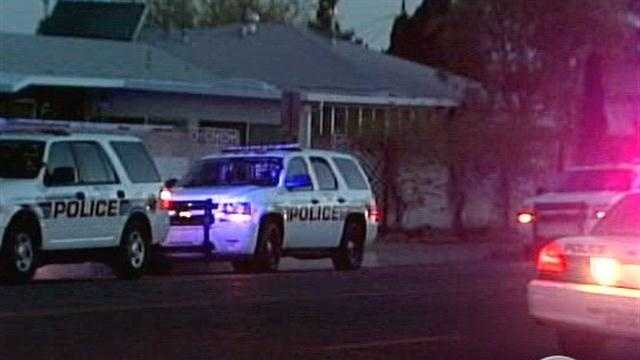 Albuquerque police locked down the area near San Pedro and Princess Jeanne on Thursday morning while they searched for a burglary suspect.