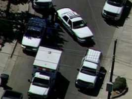 Police are in northeast Albuquerque dealing with a person barricaded in a building at 3408 Cuervo NE.
