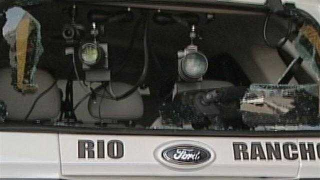 A Rio Rancho speed van was damaged recently
