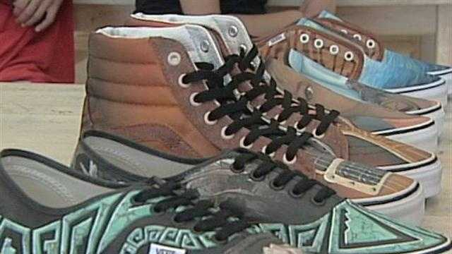 Students from Rio Rancho are hoping their shoe designs will be picked in an annual contest.
