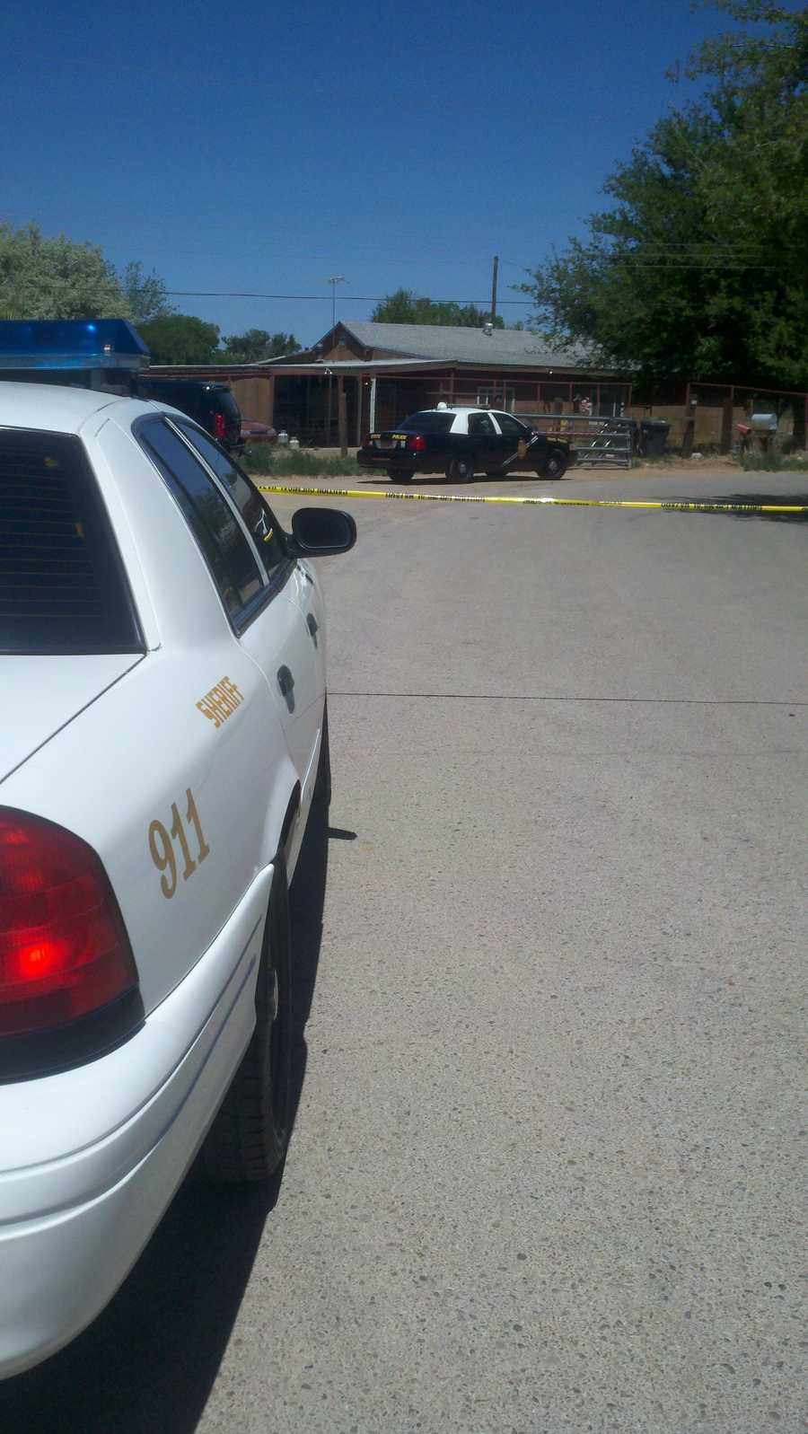 Authorities are investigating an officer-involved shooting in Los Lunas near 44 Lakeview Street.
