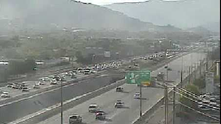 A view from the New Mexico Department of Transportation's Eubank traffic camera.