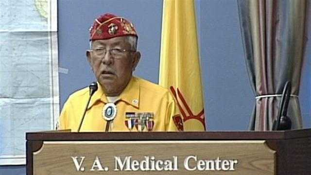 Flags are flying at half-staff over the Navajo Nation after the recent death of a code talker.