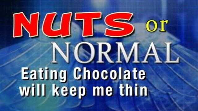 On the Healthbeat, Doctor Barry Ramo tells us if it Nuts or Normal whether or not Chocolate to make you thin.