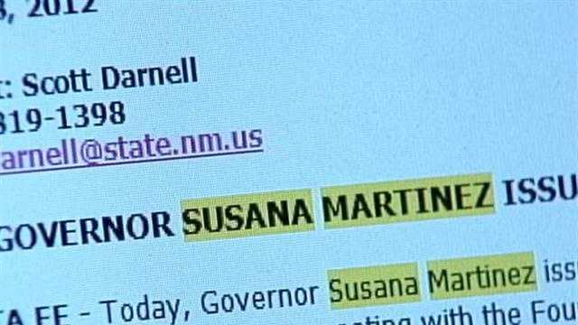 Susana Martinez delivers edict on state emails