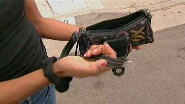 It only takes a split second for purse snatchers to get their hands on your belongings.