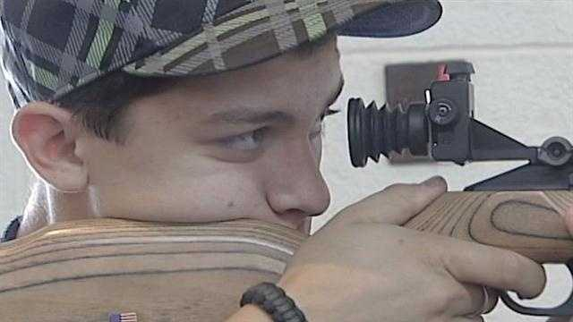 It's a precise discipline that doesn't have a big following but the 10 meter air rifle is an Olympic event and New Mexico's Cody Sanchez is quickly becoming one of the sports' best.