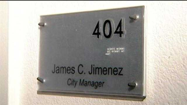City Manager James Jimenez could be out of a job after tonight.