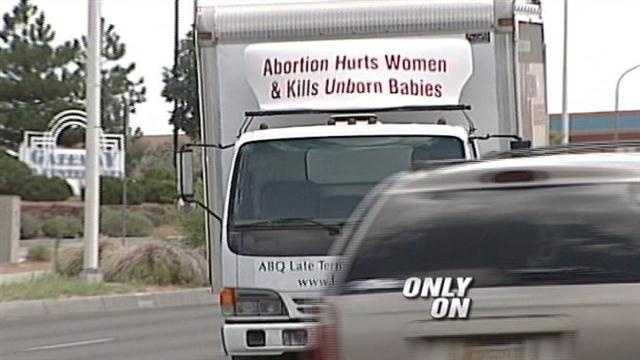 Anti-abortion billboard on the move in Albuquerque