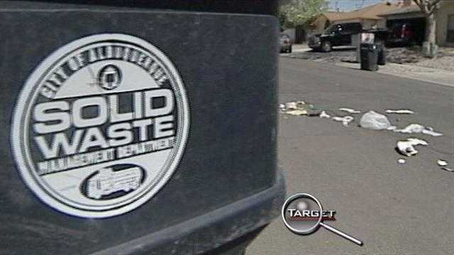 A follow up to a Target 7 investigation about trash spilled on the street.