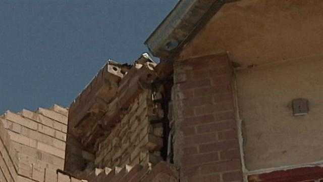 Mother Nature put on a flashy electrical show on Tuesday. One powerful bolt of lightning hit a northeast Albuquerque church.