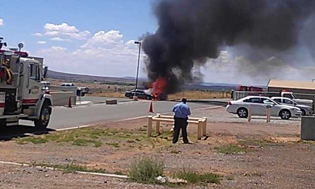 On Wednesday, a fire started in the back of an employee's truck at the Penitentiary of New Mexico's administrative building parking lot in Santa Fe.