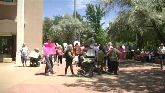 Dozens of disabled New Mexicans marched together to make sure they don't lose the help and services they need.