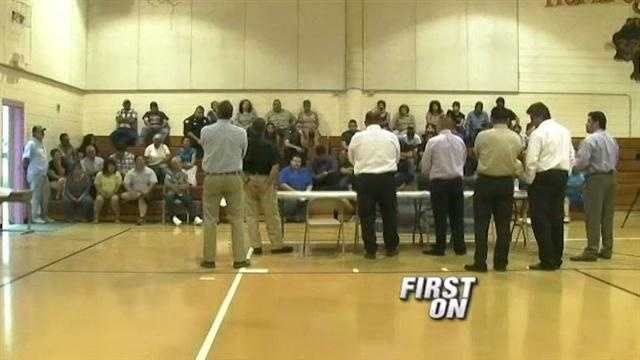 A week after an incident with the fire chief, a community meeting was held in Velarde, N.M.