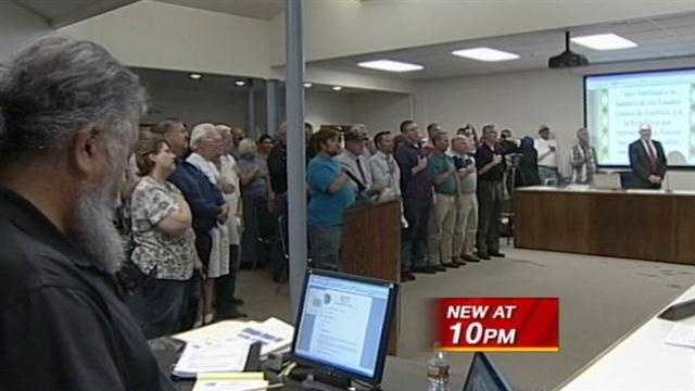 The crowd at a recent Corrales Village Council meeting was upset after the pledge of allegiance was said in Spanish.