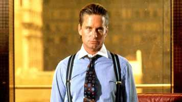 "1987: Michael Douglas as Gordon Gekko in ""Wall Street."" The film earned Douglas his first and only Best Actor Oscar."