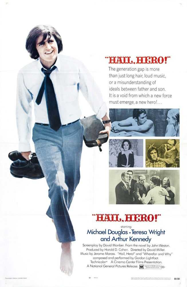 """1969: The son of acting legend Kirk Douglas, Michael Douglas, born Sept. 25, 1944, in New Brunswick, N.J., made his feature film acting debut in """"Hail, Hero!"""""""