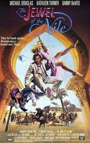"""1985: Michael Douglas re-teams with Kathleen Turner and Danny DeVito for """"Jewel of the Nile,"""" the sequel to the hit adventure comedy """"Romancing the Stone."""""""
