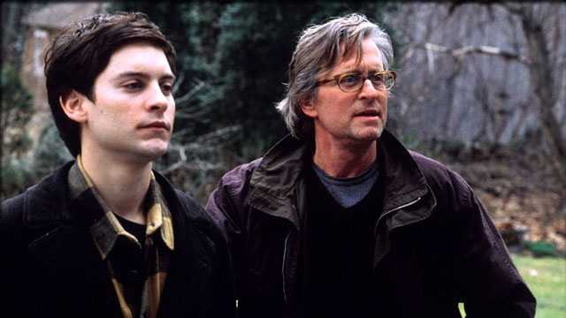"""2000: Tobey Maguire and Michael Douglas in a scene from the comedy drama """"Wonder Boys."""""""