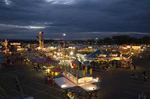 Wednesday, September 12: Opening Day. Carnival, exhibits, livestock shows, etc. open at 2 p.m.