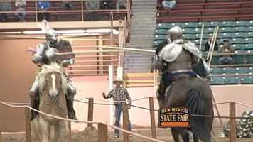 The Knights of Mayhem put on quite a show at the New Mexico State Fair on Thursday.