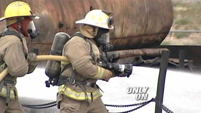 This past week was a trying one for about 200 New Mexico firefighters and emergency responders as they honed their skills at the state firefighters training academy.