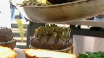 And the green chile was piled high in the contest