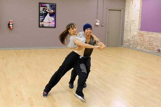 Olympic gold medal speedskater Apolo Anton Ohno and Karina Smirnoff get back in step.