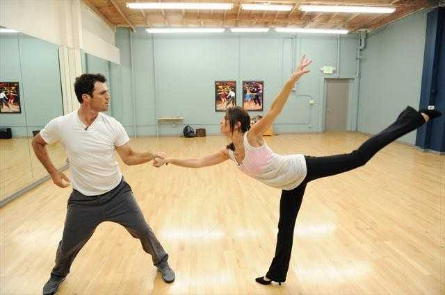 Reality TV star & spokesperson Melissa Rycroft and Tony Dovolani get ready fro their opening night Foxtrot.