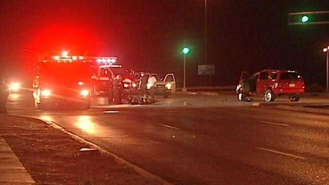 Motorcyclist critically injured in crash with SUV