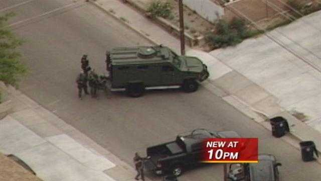 Albuquerque police launched an internal affairs investigation into three SWAT team members.