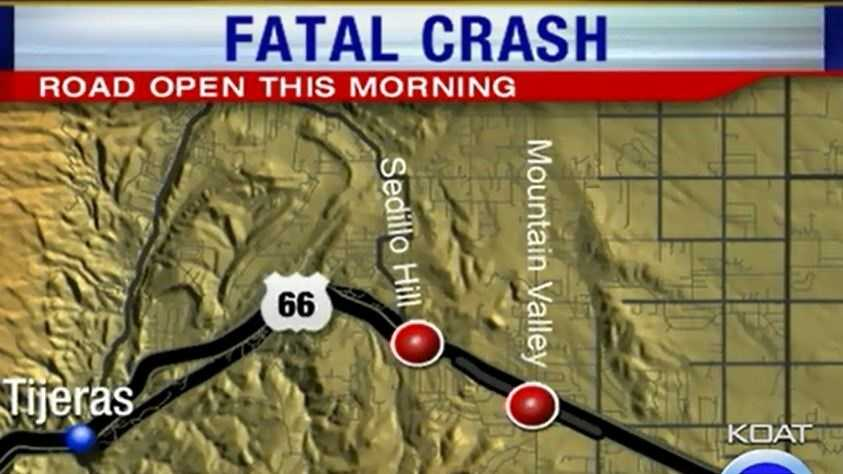 Map Sedillo Hill Crash