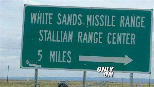 White Sands' sign