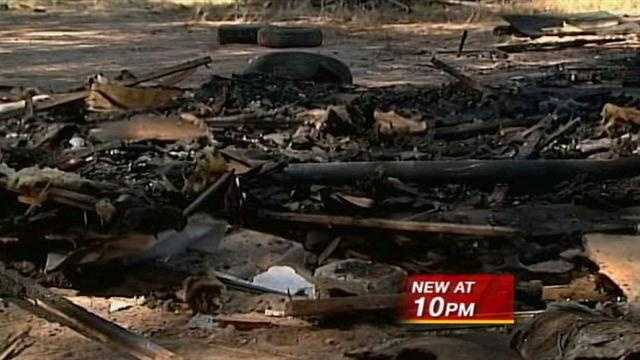 A property dispute in Belen ended with trailer reduced to ashes recently.