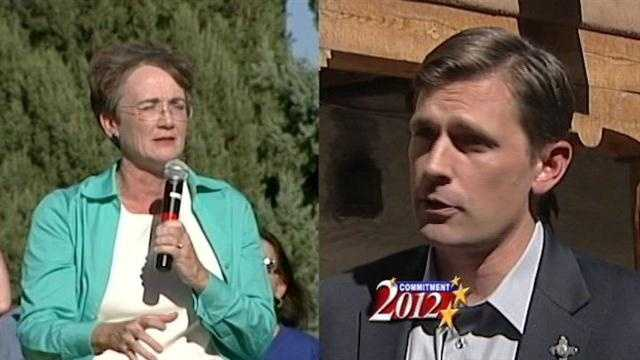 Political heavy weights stump in Heinrich, Wilson race