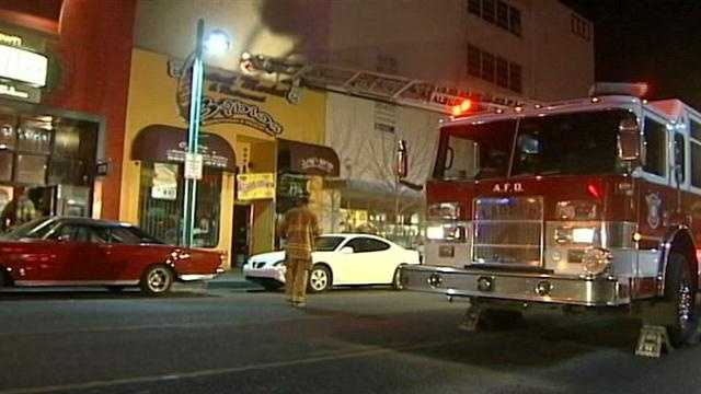 Firefighters are investigating the cause of an overnight fire at a popular downtown market.