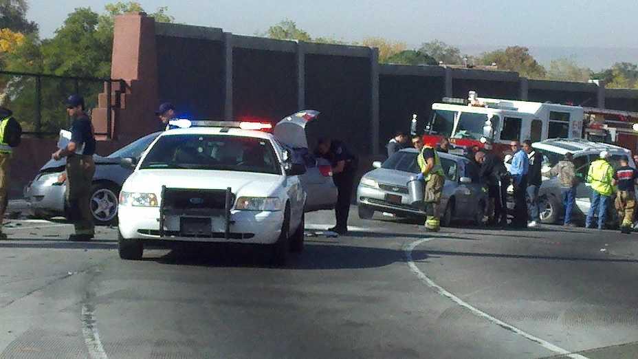 Multi car crash