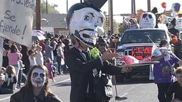 "South Valley residents celebrated holiday the traditional Mexican holiday ""Dia De Los Muertos on Sunday."