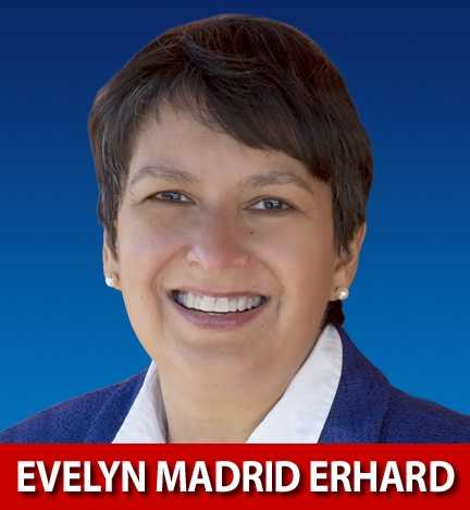 Evelyn Madrid Erhard, D-N.M., is running for Congress in New Mexico's 2nd District.