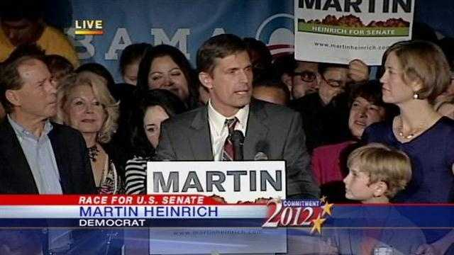Rep. Martin Heinrich is headed to the U.S. Senate.